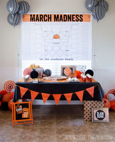 party themes in march march madness huge bracket poster and party ideas