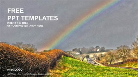 rainbow nature powerpoint templates