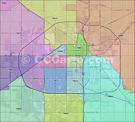 map lubbock texas lubbock texas zip codes lubbock county zip code boundary map