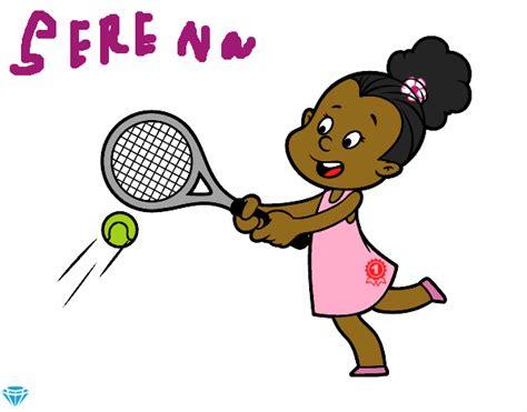 dibujos niños jugando tenis dibujo de ni 241 a jugando a tenis pintado por en dibujos net