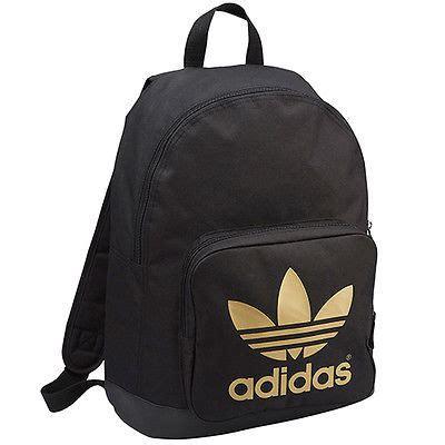 New Adidas Black For School adidas originals backpack black gold trefoil logo