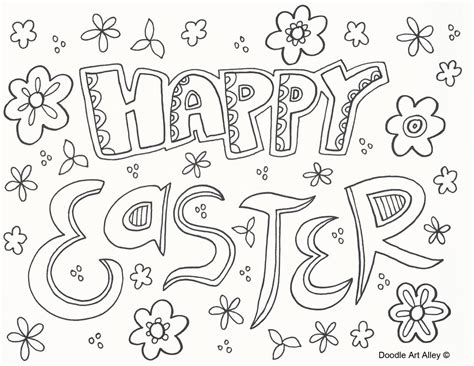 Easter Coloring Pictures by Easter Coloring Pages Doodle Alley