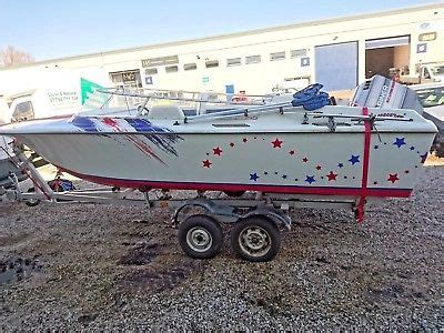 speed boats for sale uk cheap broom speedboat 18 ft and trailer no engine cheap boats