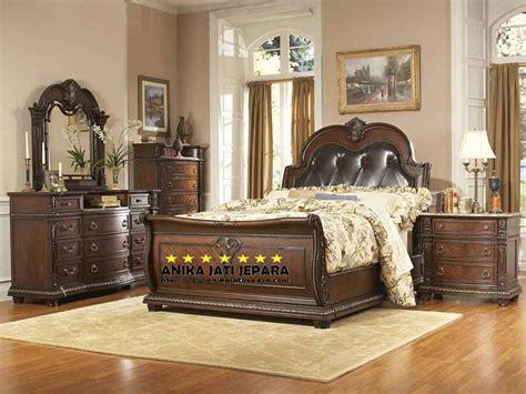 set kamar tidur jati mewah bali anskt furniture indor sleigh bedroom set sleigh beds