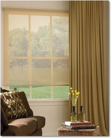 designer window treatments hunter douglas motorized designer screen window shades