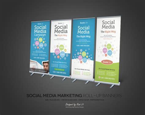 Social Media Marketing Roll Up Banners By Kinzi Deviantart Com On Deviantart Roll Up Design Social Media Brand Guidelines Template