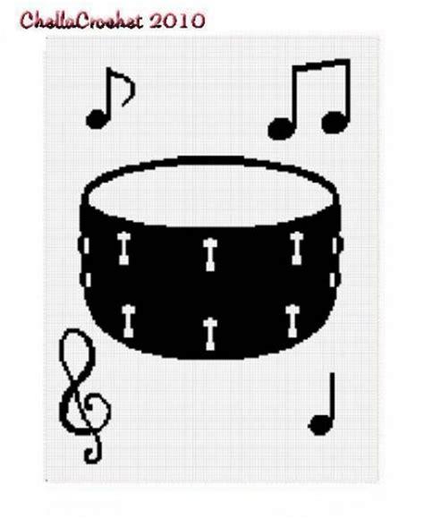 pattern drum chella crochet snare drum music afghan pattern graph