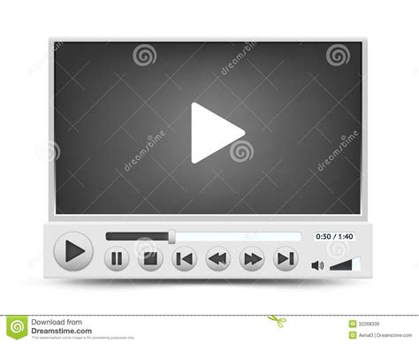 format video player vector video player interface royalty free stock images