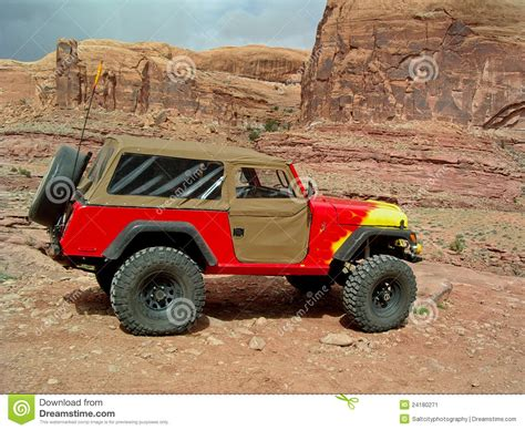 Jeeping In Moab Jeep In Moab Stock Image Image 24180271