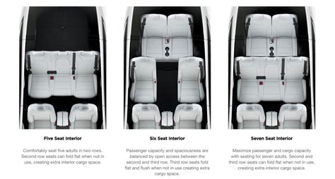 Tesla Model X Seating 7 Seat Tesla Model X Gets Fold Flat Rear Seats