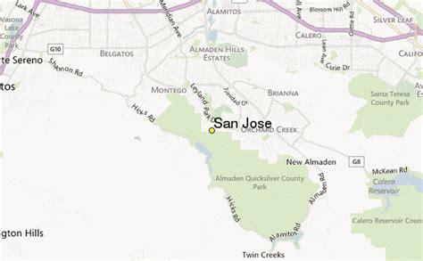 san jose doppler radar map san jose weather station record historical weather for