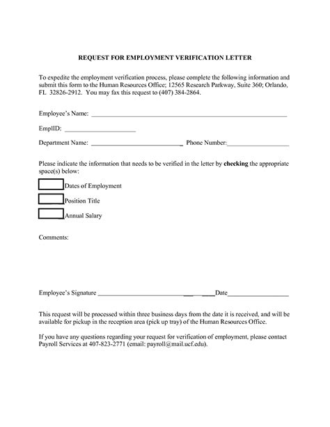 request letter for employment verification request letter format for application form exle