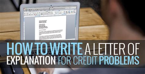 Sle Letter Of Explanation For Bad Credit How To Write A Letter Of Explanation For Credit Problems Badcredit Org