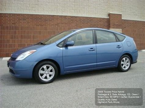2005 Toyota Prius Mpg Find Used 2005 Toyota Prius Hybrid Pkg 3 Side Airbags