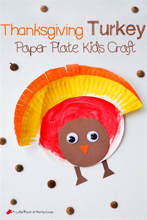 Thanksgiving Crafts With Paper Plates - thanksgiving craft for painted paper plate turkey