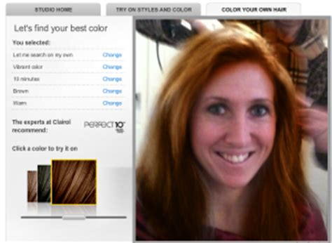 Clairol Hair Styles Try It On Studio by Clairol S Try It On Studio Find Your Hair Color Alter