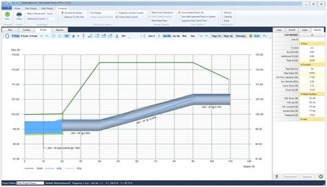 Hydraulic Grade Line Calculation Spreadsheet by Sewer Design Software Stormwater Studio