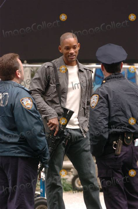 Will Smith And Braga On Set Of I Am Legend October 15 2006 by Braga Pictures And Photos