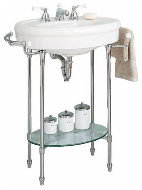 bathroom sink legs american standard quot standard quot console sink with chrome legs