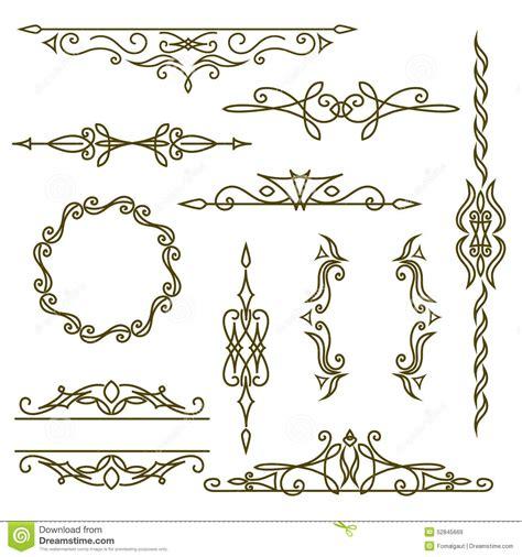 frame design line art monogram design elements graceful template elegant line
