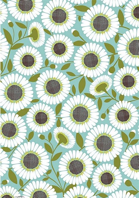 daisy paper flower pattern pool daisy wrapping paper paper source patternalia