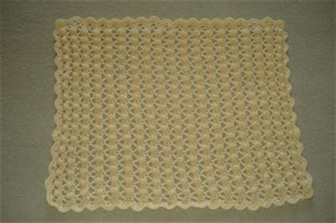 Crochet Popcorn Stitch Baby Blanket by Is For Living Crocheted Popcorn Stitch Baby Blanket