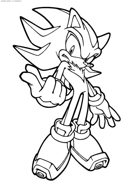 Shadow Coloring Page amazing coloring pages sonic printable coloring pages
