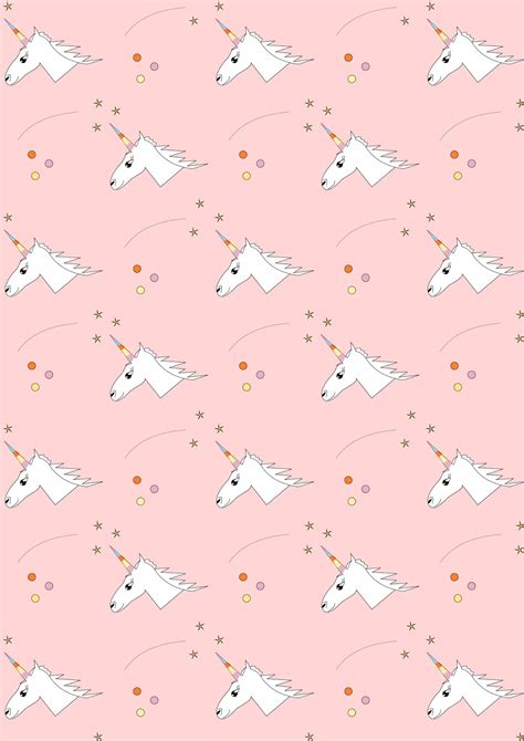 Printable Unicorn Pattern | free digital unicorn scrapbooking paper ausdruckbares