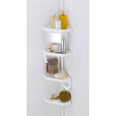 bathtub shelf caddy 4 shelf bathroom storage caddy white ebay