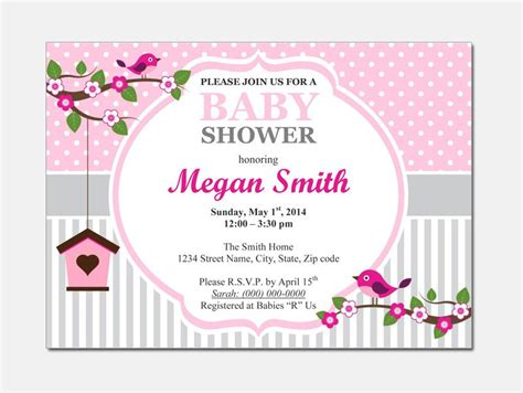 Baby Shower Invitations For Word Templates Party Xyz Microsoft Word Baby Shower Invitation Templates