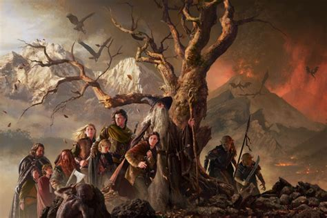 Lord Of The Rings The Confrontation 2013 Edition Original michael komarck illustration