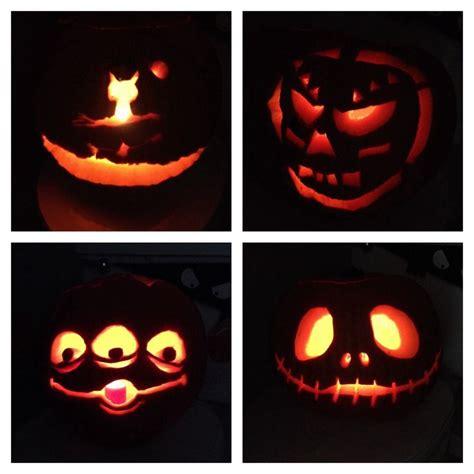 Toy story alien and jack skelton pumpkin carvings for halloween