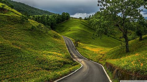 wallpaper green road wallpaper green hills road 1920 x 1080 full hd