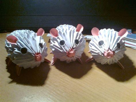 3d origami tutorial girnelis 3d origami mouses by michaelle111 on deviantart