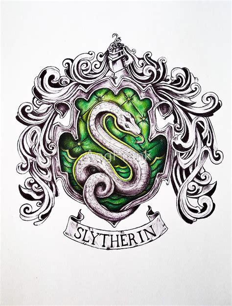 harry tattoo quiz slytherin house crest by angfrank on redbubble harry