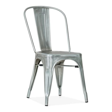 Xavier Pauchard Style Galvanised Industrial Raw Metal Chair   Cult UK