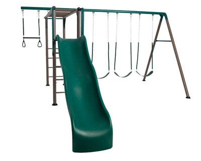 metal swing sets with monkey bars and slide 1 000 plus 125 for 2 toddler swings lifetime monkey