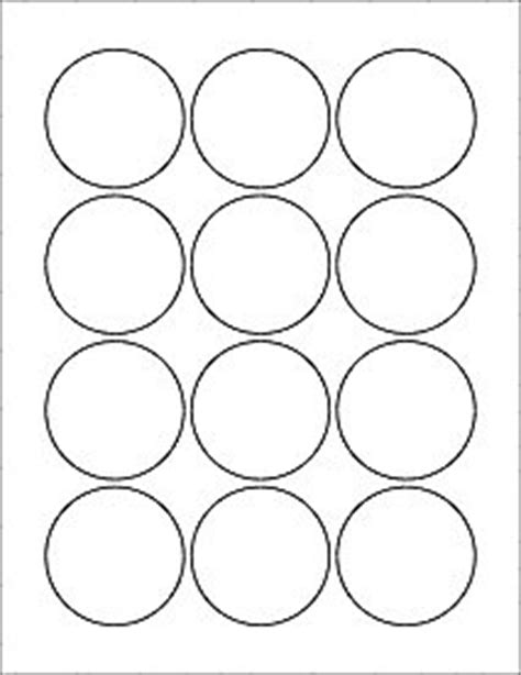 Amazon Com 6 Sheets 72 2 1 4 Quot Round Circle White Stickers For Inkjet Laser Printers 8 1 2 1 4 Inch Button Template