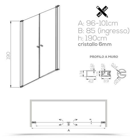 altezza box doccia nicchia 100 cm porta per box doccia saloon cristallo opaco