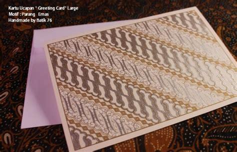Kartu Ucapan Natal Tahun Baru Ulang Tahun Gift Card 3d Murah jual kartu ucapan handmade motif parang silver size l kartu ucapan batik kartu ucapan ulang