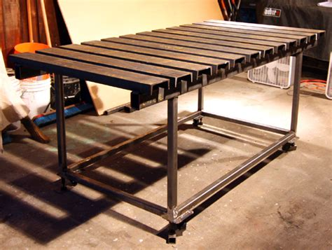 welding bench ideas build welding work table plans diy small wood project