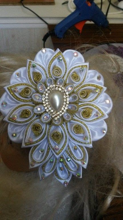 At Satin Mawar Navy 17 best images about flores on kanzashi tutorial flower headbands and satin ribbons