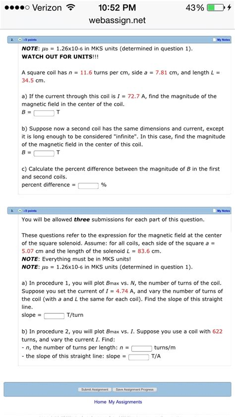 pm questions and answers solved o verizon 10 52 pm webassign net my n note auo 3