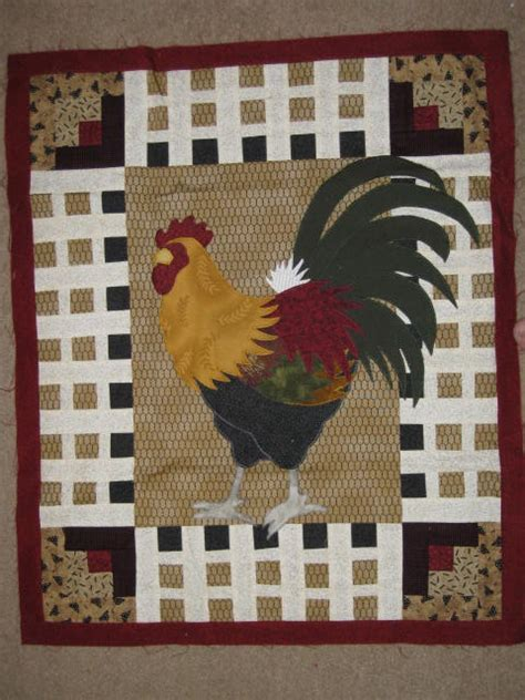 quilt pattern rooster 1000 images about i love roosters chickens on pinterest