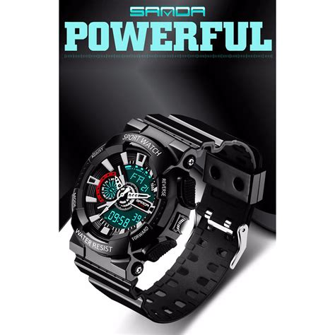 Sanda Jam Tangan Sporty Pria Sd 732 sanda jam tangan sporty pria sd 799 black jakartanotebook
