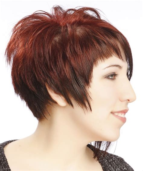 short hair longer on one side short straight alternative asymmetrical hairstyle with