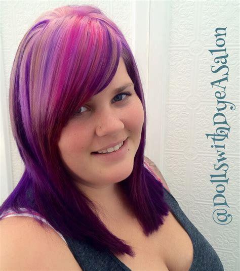 pravana magenta hair color hair color pinwheel pattern hairstyle 2013