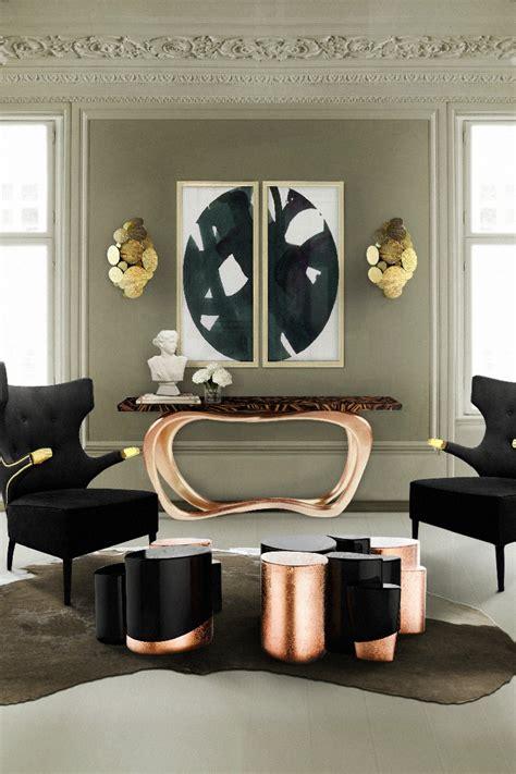 copper living room tables