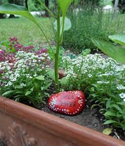 Painted Garden Rocks Painted Rock Garden Markers