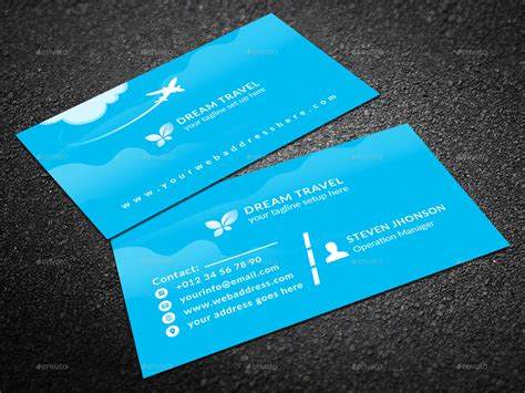 graphicriver travel agency business card design template travel agency business card by graphic forest graphicriver